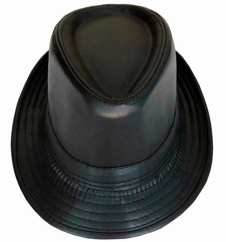 Faux Leather Fedora Hats