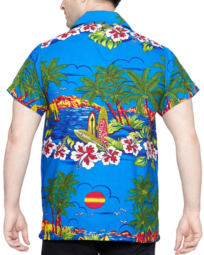 SWEET NECTAR Men's Regular Fit Classic Short Sleeve Casual Floral Hawaiian Shirt - Sync With Style - Casual Shirts - Sweet Nectar  - 2