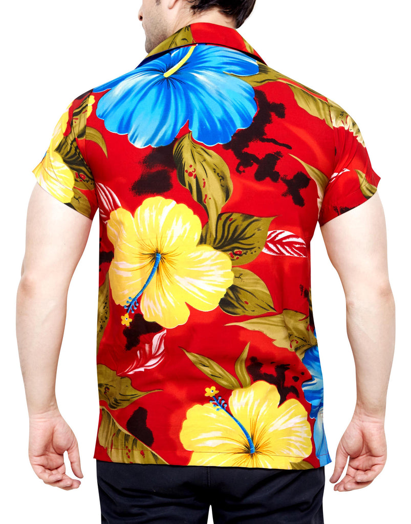 CLUB CUBANA Men's Regular Fit Classic Short Sleeve Casual Floral Hawaiian Shirt - Sync With Style - Casual Shirts - Club Cubana  - 3