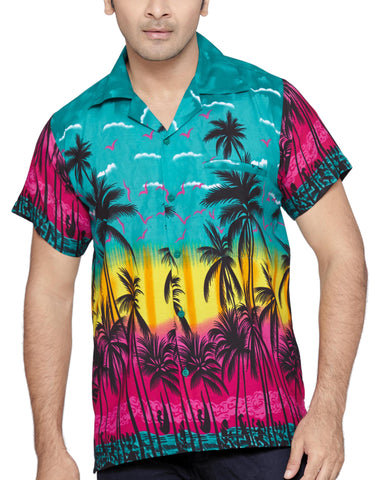 SWEET NECTAR Men's Regular Fit Classic Short Sleeve Casual Floral Hawaiian Shirt - Sync With Style - Casual Shirts - Sweet Nectar  - 1