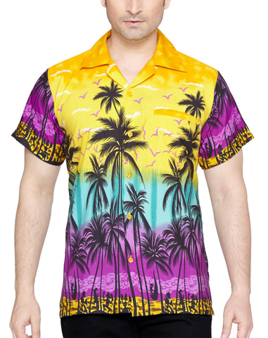 SWEET NECTAR Men's Regular Fit Classic Short Sleeve Casual Floral Hawaiian Shirt - Sync With Style - Casual Shirts - Sweet Nectar  - 3