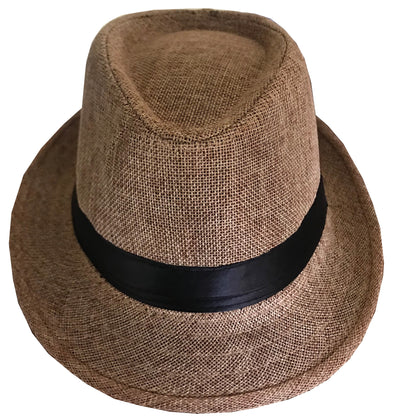 CLUB CUBANA Fedora Hats for Men Women Unisex Trilby Hat Panama Style Summer Beach Sun Jazz Cap Khaki