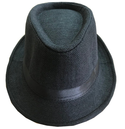 CLUB CUBANA Fedora Hats for Men Women Unisex Trilby Hat Panama Style Summer Beach Sun Jazz Cap Black