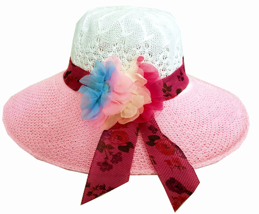 336f752e3e5 SYNC WITH STYLE Womens Ladies Floppy Foldable Summer Wedding Church Race  Derby Sun Beach Straw Cap