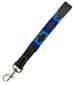 CARLOS DIAZ Genuine Leather Waxed Embroidered Polo Dog Leash Walking Training Short Traffic Lead