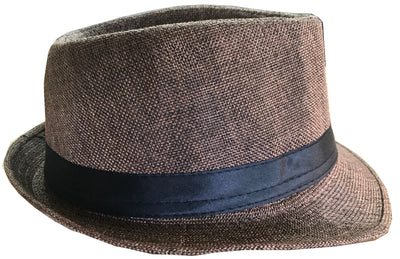 CLUB CUBANA Fedora Hats for Men Women Unisex Trilby Hat Panama Style Summer Beach Sun Jazz Cap Brown
