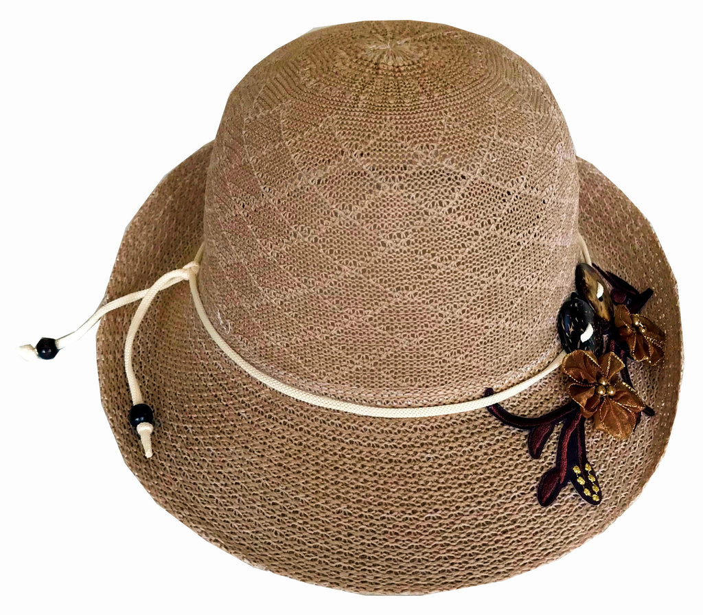 7e9cc7b5e9e6ec SYNC WITH STYLE Womens Ladies Floppy Foldable Summer Wedding Church Race  Derby Sun Beach Straw Cap