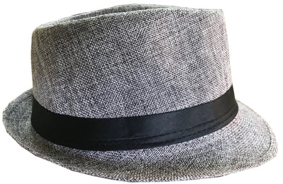 CLUB CUBANA Fedora Hats for Men Women Unisex Trilby Hat Panama Style Summer Beach Sun Jazz Cap Grey