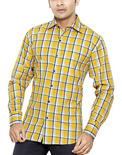 FRANCO ROMANO Men's Regular Fit Classic Long Sleeve Casual Shirt