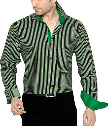 Frank Yue F. Yue Men's Regular Fit Classic Long Sleeve Casual Shirt