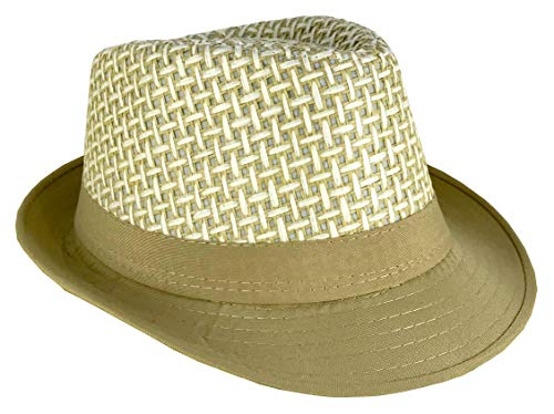 CLUB CUBANA Fedora Hats for Men Women Unisex Trilby Hat Panama Style Summer Beach Sun Jazz Cap