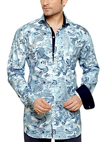 ARCHIE JACKSON Men's Slim Fit Classic Long Sleeve Casual Shirt