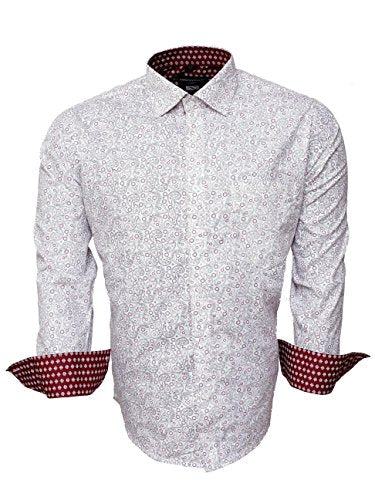 Hawkins and Jenkins Men's Slim Fit Classic Long Sleeve Casual Shirt