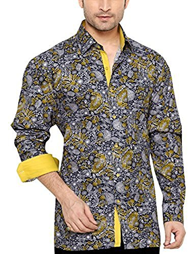 Bradley Crompton Men's Regular Fit Classic Long Sleeve Casual Shirt