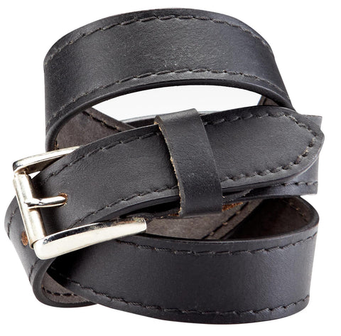 Bradley Crompton Mens Womens Unisex Black Leather Casual Belt - Sync With Style - Casual Belts - BRADLEY CROMPTON  - 2