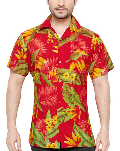 CLUB CUBANA Men's Regular Fit Classic Short Sleeve Casual Floral Hawaiian Shirt - Sync With Style - Casual Shirts - Club Cubana  - 1