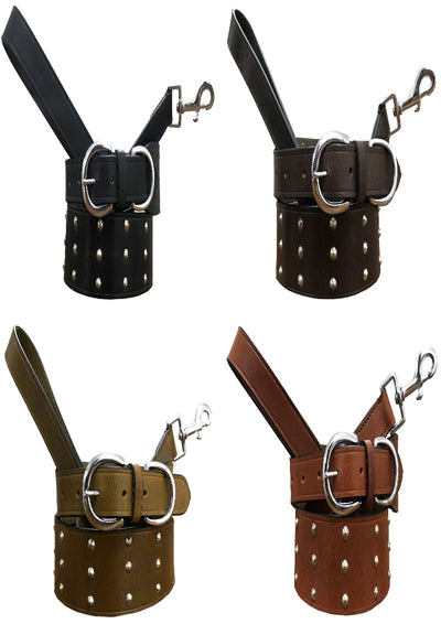 ... BRADLEY CROMPTON Genuine Leather Matching Pair Dog Collar and Lead Set caf3c77cc108