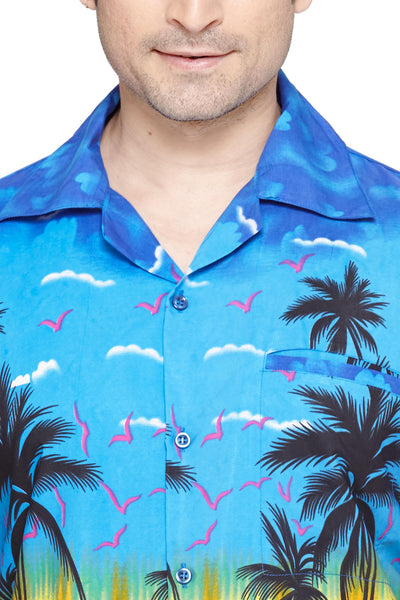 CLUB CUBANA Men's Regular Fit Classic Short Sleeve Casual Floral Hawaiian Shirt - Sync With Style - Casual Shirts - Club Cubana  - 2