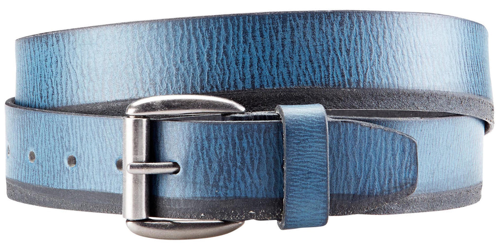 Bradley Crompton Mens Womens Unisex Blue Leather Casual Belt - Sync With Style - Casual Belts - BRADLEY CROMPTON  - 4