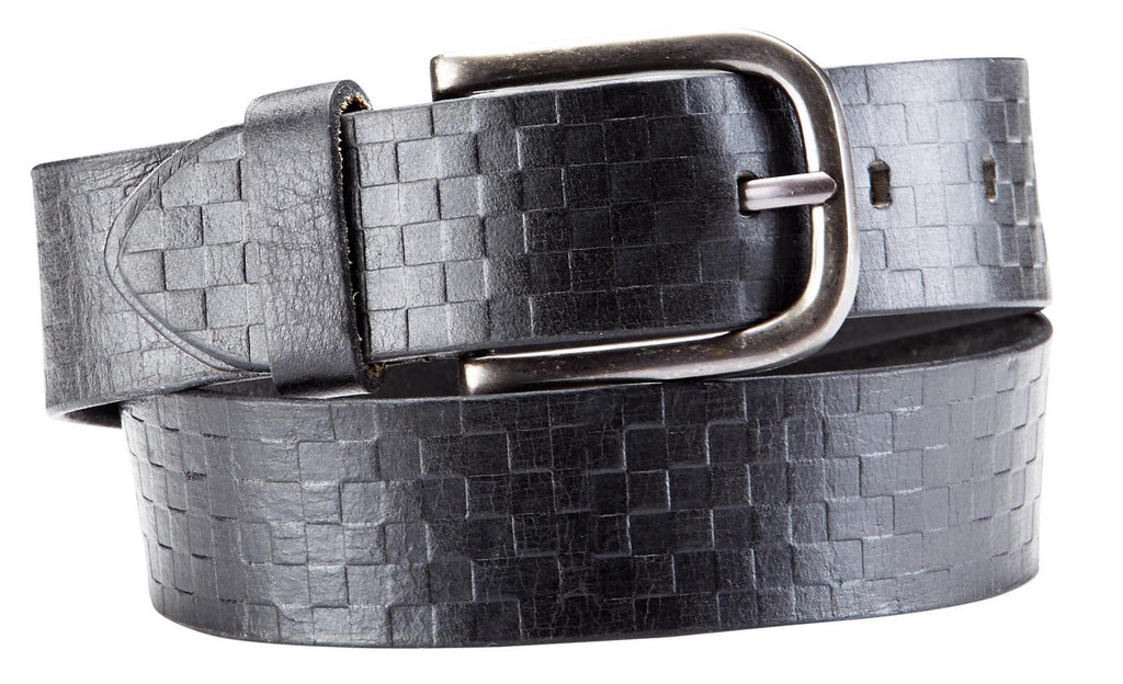 Bradley Crompton Mens Womens Unisex Black Leather Casual Belt - Sync With Style - Casual Belts - BRADLEY CROMPTON  - 4