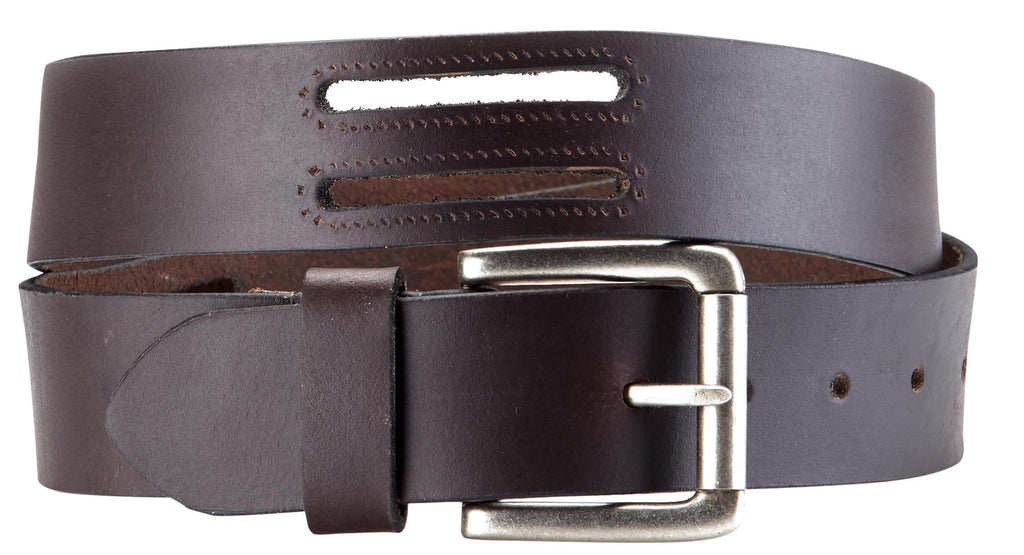 Bradley Crompton Mens Womens Unisex Brown Leather Casual Belt - Sync With Style - Casual Belts - BRADLEY CROMPTON  - 6