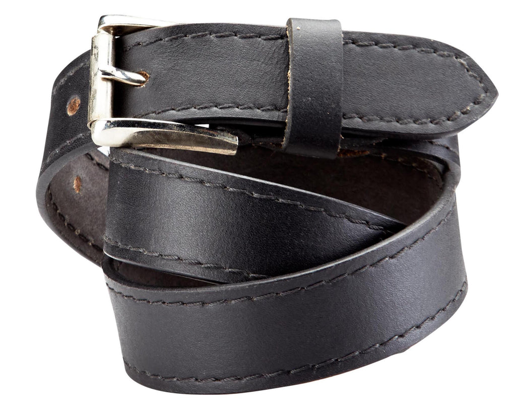 Bradley Crompton Mens Womens Unisex Black Leather Casual Belt - Sync With Style - Casual Belts - BRADLEY CROMPTON  - 3