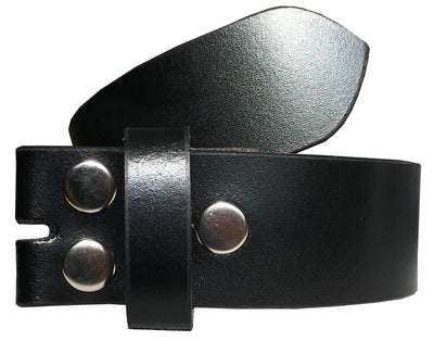 SYNC WITH STYLE Mens Womens Unisex Black Full Genuine Leather Casual Formal Press Stud Snap On Belt