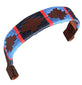 CARLOS DIAZ Designer Genuine Leather Waxed Embroidered Polo Horse Bridle Browband