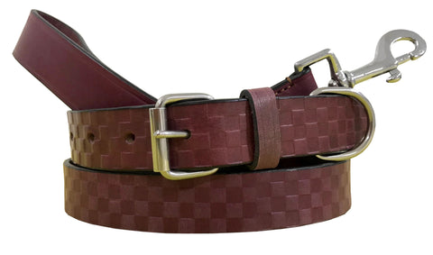 Leather Dog Collar and Lead Set