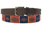 Carlos Diaz Mens Womens Unisex Argentinian Brown Leather Embroidered Polo Belt - Sync With Style - Polo Belts - Carlos Diaz  - 2