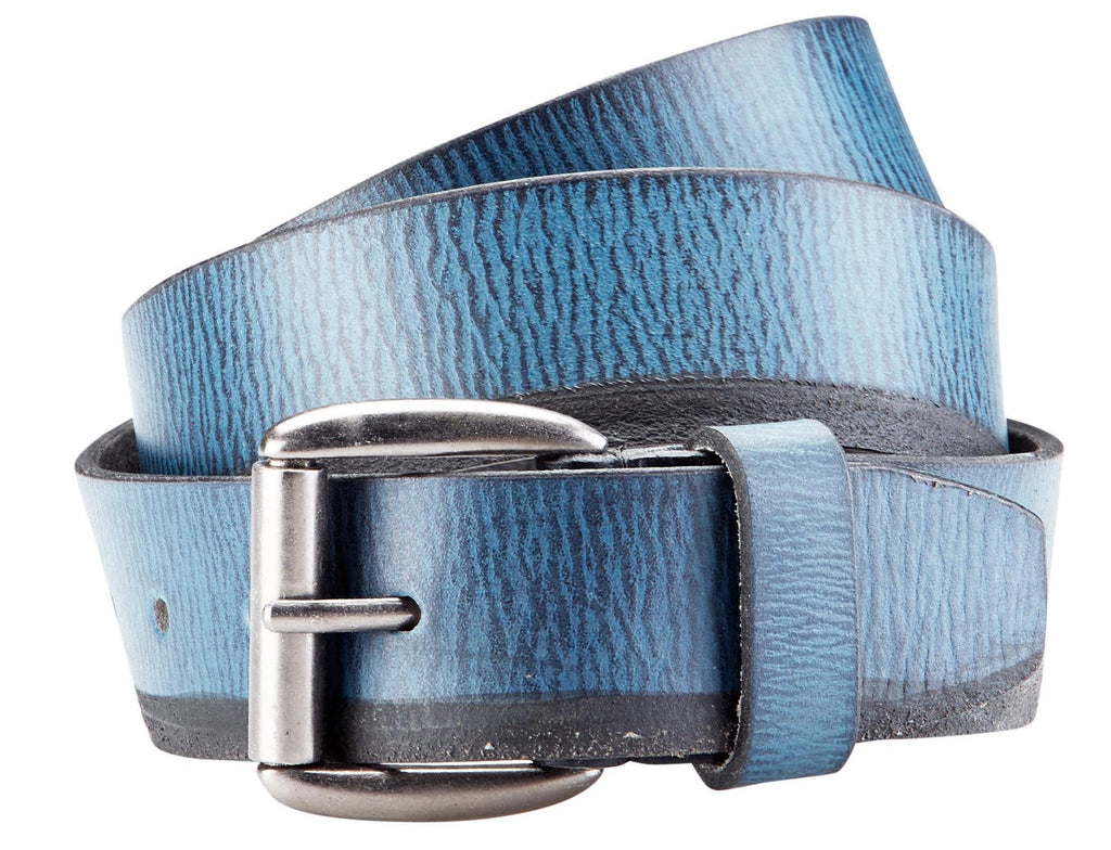 Bradley Crompton Mens Womens Unisex Blue Leather Casual Belt - Sync With Style - Casual Belts - BRADLEY CROMPTON  - 3