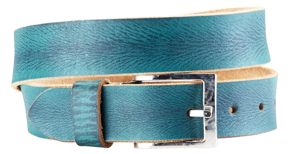 Bradley Crompton Mens Womens Unisex Blue Leather Casual Belt - Sync With Style - Casual Belts - BRADLEY CROMPTON  - 5