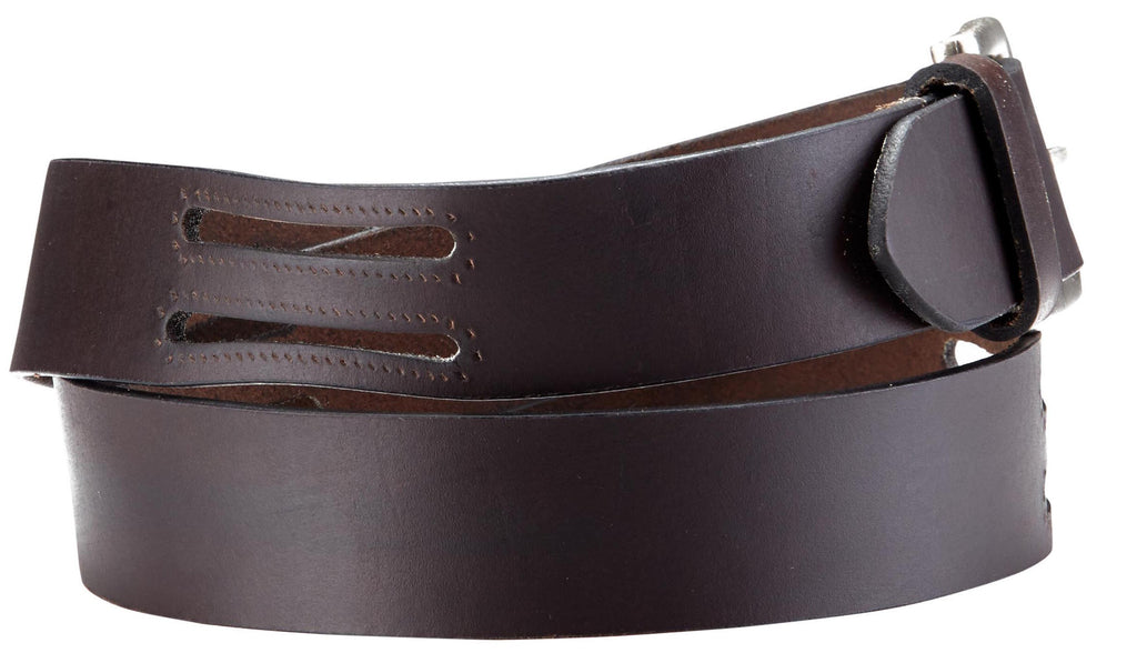Bradley Crompton Mens Womens Unisex Brown Leather Casual Belt - Sync With Style - Casual Belts - BRADLEY CROMPTON  - 5