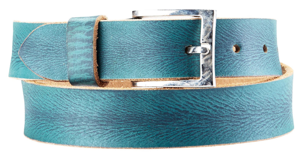 Bradley Crompton Mens Womens Unisex Blue Leather Casual Belt - Sync With Style - Casual Belts - BRADLEY CROMPTON  - 6