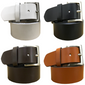 BRADLEY CROMPTON Mens Multipack Black, Brown, Tan Brown & White (Set of 4 Belts) Twin Pack Full Leather Grain Casual Formal Belts