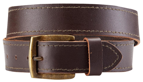 Bradley Crompton Mens Womens Unisex Brown Leather Casual Belt - Sync With Style - Casual Belts - BRADLEY CROMPTON  - 2