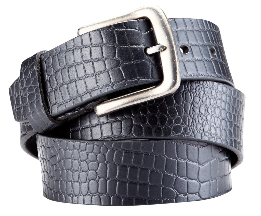 Bradley Crompton Mens Womens Unisex Black Leather Casual Belt - Sync With Style - Casual Belts - BRADLEY CROMPTON  - 5