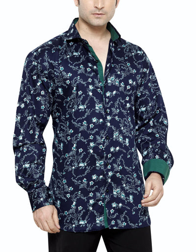 Archie Jackson Blue Men's Regular Fit Classic Long Sleeve Casual Shirt - Casual Shirts - Archie Jackson - Archie Jackson Blue Men's Regular Fit Classic Long Sleeve Casual Shirt - Sync With Style