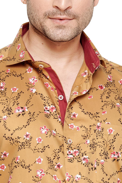 Archie Jackson Brown Men's Regular Fit Classic Long Sleeve Casual Shirt - Sync With Style - Casual Shirts - Archie Jackson  - 2
