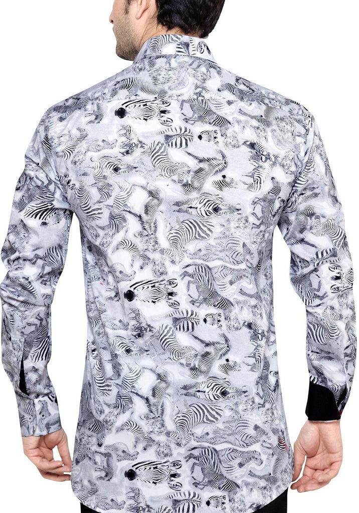 Archie Jackson Grey Men's Slim Fit Classic Long Sleeve Casual Shirt - Casual Shirts - Archie Jackson - Archie Jackson Grey Men's Slim Fit Classic Long Sleeve Casual Shirt - Sync With Style