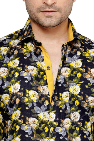 Archie Jackson Yellow Men's Slim Fit Classic Long Sleeve Casual Shirt - Casual Shirts - Archie Jackson - Archie Jackson Yellow Men's Slim Fit Classic Long Sleeve Casual Shirt - Sync With Style