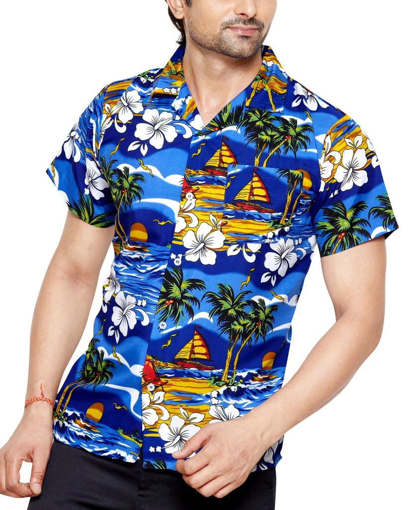 CLUB CUBANA Men's Slim Fit Classic Short Sleeve Casual Floral Hawaiian Shirt - Casual Shirts - Club Cubana - CLUB CUBANA Men's Slim Fit Classic Short Sleeve Casual Floral Hawaiian Shirt - Sync With Style