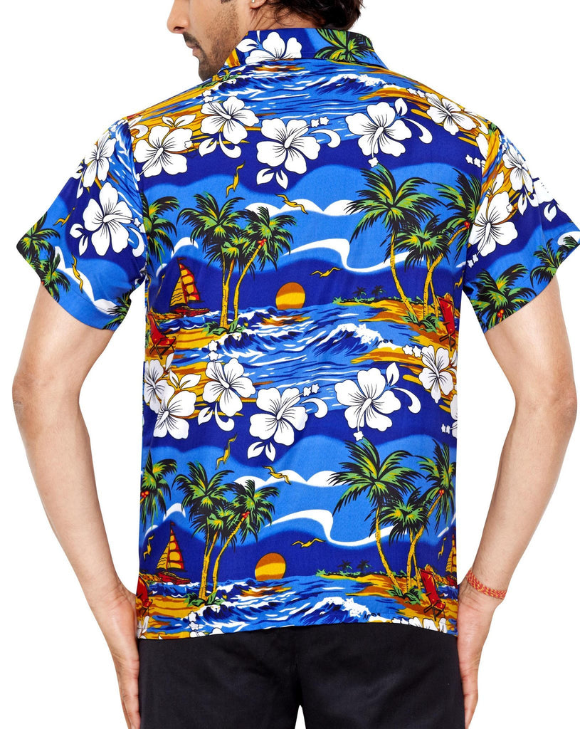 CLUB CUBANA Men's Slim Fit Classic Short Sleeve Casual Floral Hawaiian Shirt - Sync With Style - Casual Shirts - Club Cubana  - 3