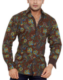 Iverna Court Brown Mens Regular Fit Casual Shirt - Sync With Style - Casual Shirts - Steffen Dehm  - 1