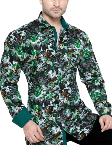 James Mayfair Green Men's Slim Fit Classic Long Sleeve Casual Shirt - Sync With Style - Casual Shirts - James Mayfair  - 1