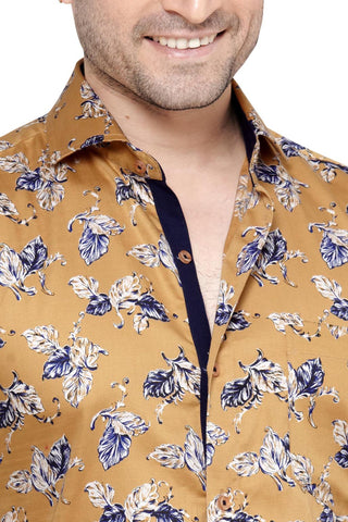 James Mayfair Yellow Men's Slim Fit Classic Long Sleeve Casual Shirt - Sync With Style - Casual Shirts - James Mayfair  - 2