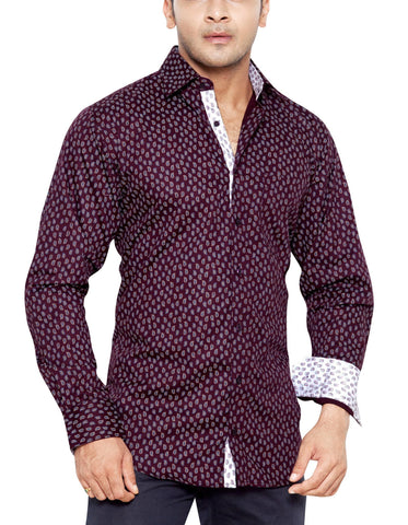Old Court Place Purple Mens Regular Fit Casual Shirt - Sync With Style - Casual Shirts - Steffen Dehm  - 1