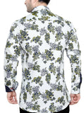 Oliver Green White Men's Slim Fit Classic Long Sleeve Casual Shirt - Sync With Style - Casual Shirts - Oliver Green  - 3