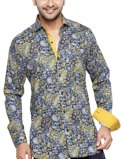 Oliver Green Yellow Men's Regular Fit Classic Long Sleeve Casual Shirt - Sync With Style - Casual Shirts - Oliver Green  - 1