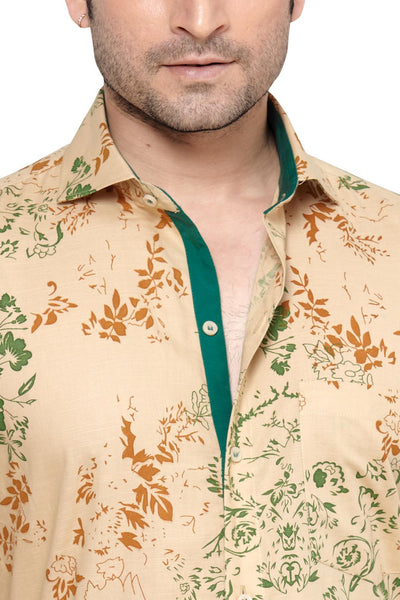 Oliver Green Yellow Men's Slim Fit Classic Long Sleeve Casual Shirt - Sync With Style - Casual Shirts - Oliver Green  - 2